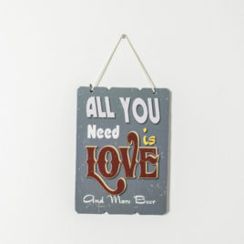 "Cuadro ""All you need is love and more beer"""