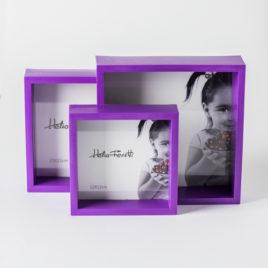 Set de 3 marcos de foto – color violeta