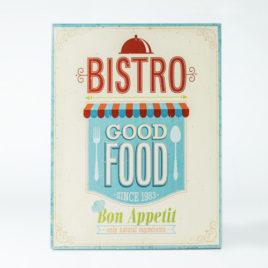 "Lienzo vintage ""Bistro – Good Food"""